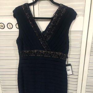 Navy Dress Adrianna Papell
